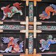 西本願寺、唐門 獅子の浮き彫り(右扉)