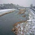 雪の三条河原