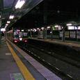 走り去る電車(京阪特急、淀屋橋行き)の後ろ姿
