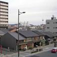 五条堀川から京都駅方面を望む